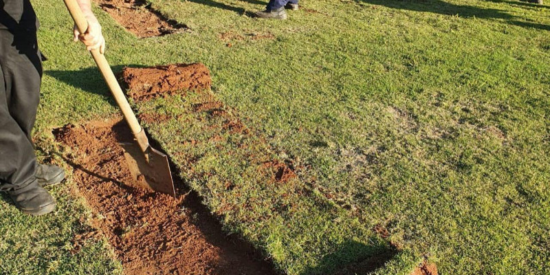 Atibaia Seven Resort - iniciando trabalho de drenagem localizada - Green Care & Tapia Gramados!